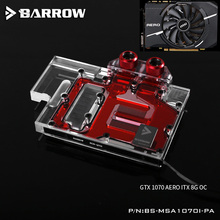 BARROW Full Cover Graphics Card Block use for MSI GTX1070 AERO ITX 8G OC Copper Radiator Cooler GPU RGB Light to AURA 4PIN