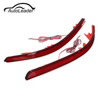 2Pcs LED Parking Tail Lights Red Rear Bumper Reflector Brake Light For Kia Optima Magentis K5