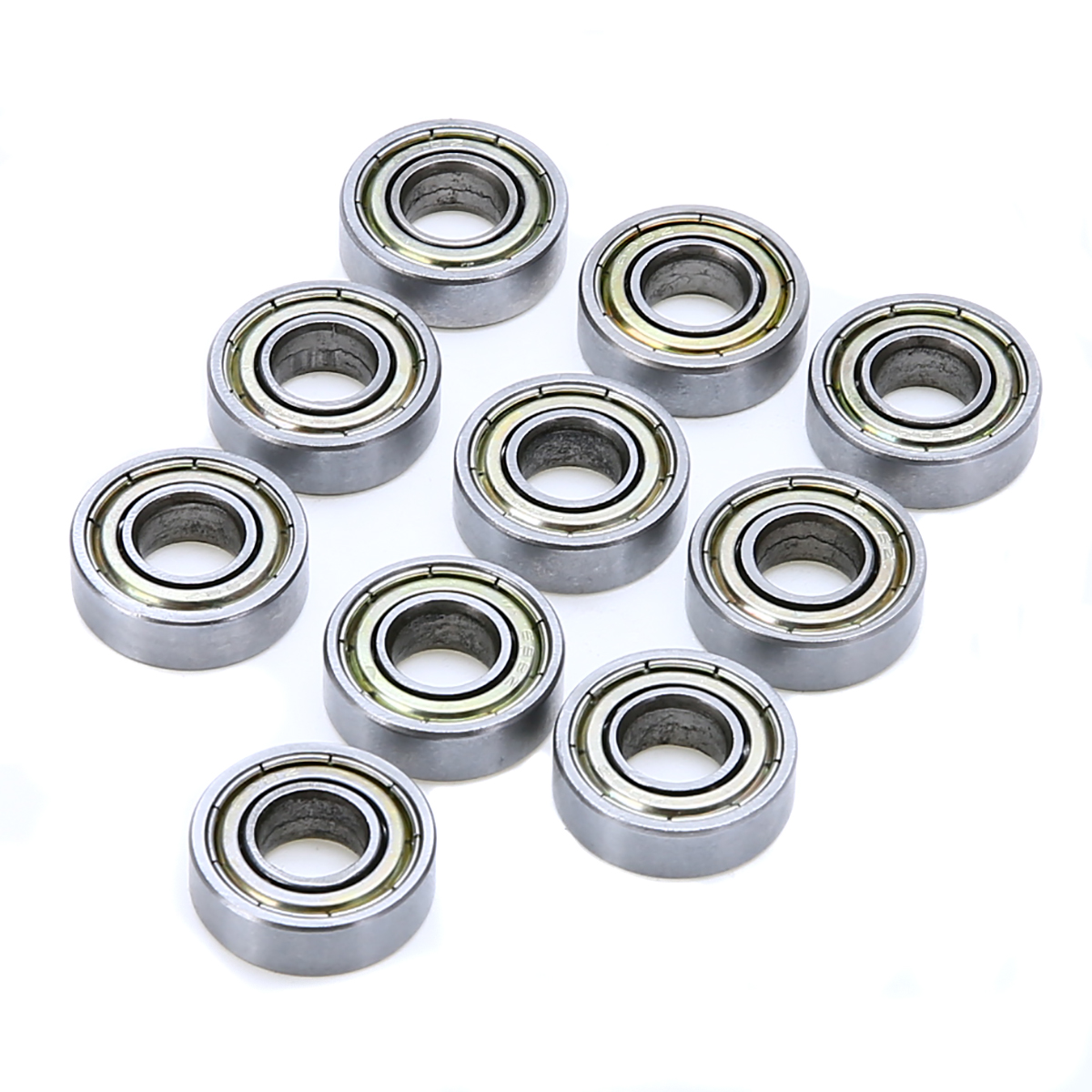 10pcs Mayitr 698ZZ Ball Bearings Carbon Steel Sealed Deep Groove Radial Wheel Bearings 8*19*6mm for Electric Motors mtgather durable steel 6800zz deep groove ball bearings two side metal shields 10x19x5mm mechanical parts accessories