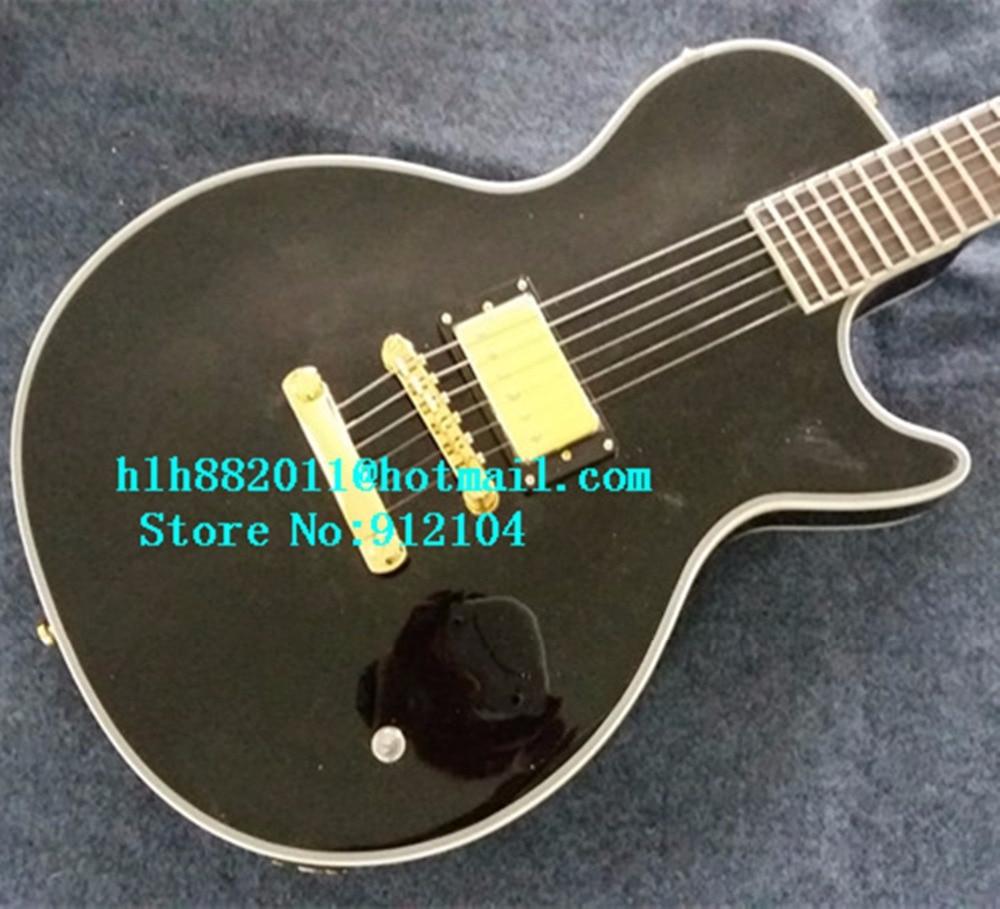 Nouvelle guitare électrique personnalisée Big John en noir avec corps en acajou avec F-3341 de ramassage monobloc