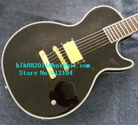 new Big John customized electric guitar in black with mahogany body with one piece pickup F 3341