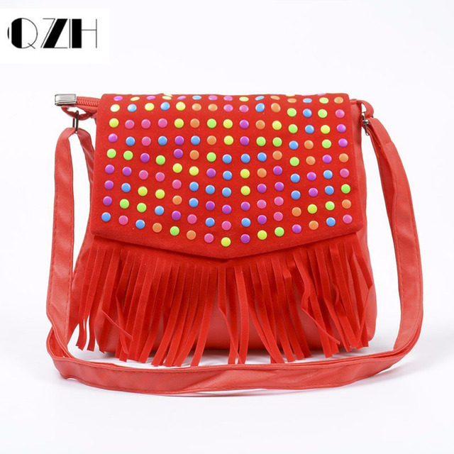 Fashion S Handbag Children Tassel Bag Small Shoulder Kids Messenger Bags Mini Coin Purses