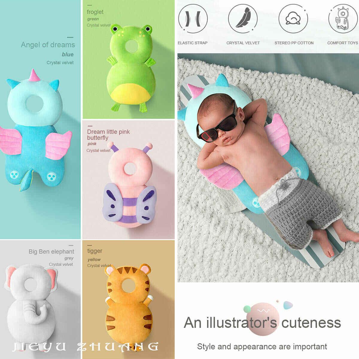 2019, Protector de la cabeza del bebé recién nacido, cojín de seguridad, cojín de seguridad para evitar lesiones, unicornio, abeja de dibujos animados, almohadas de seguridad 1-3Y