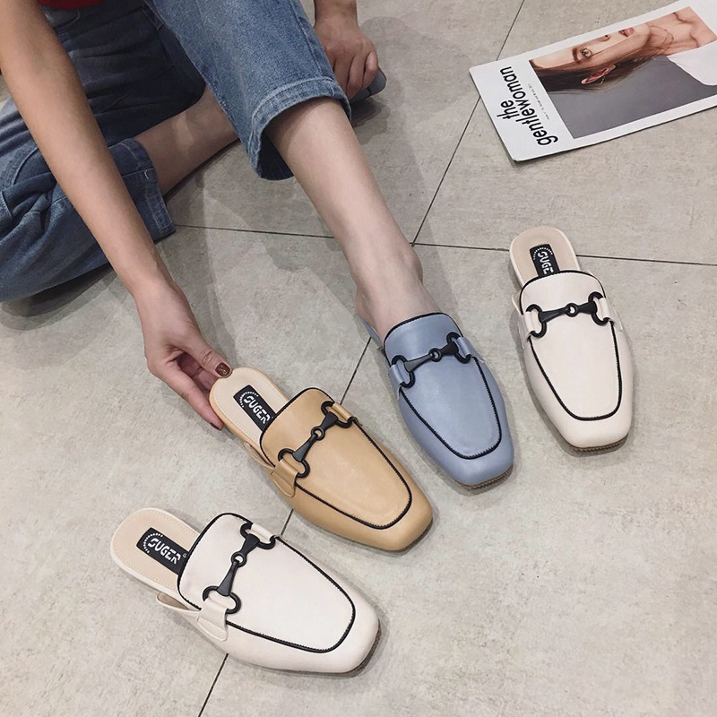 Women Shoes Flat Slippers Slip On Mules Talon Brand Designers 2019 Fashion Luxury Square Toe Slides Slip On Loafers Mules FemaleWomen Shoes Flat Slippers Slip On Mules Talon Brand Designers 2019 Fashion Luxury Square Toe Slides Slip On Loafers Mules Female