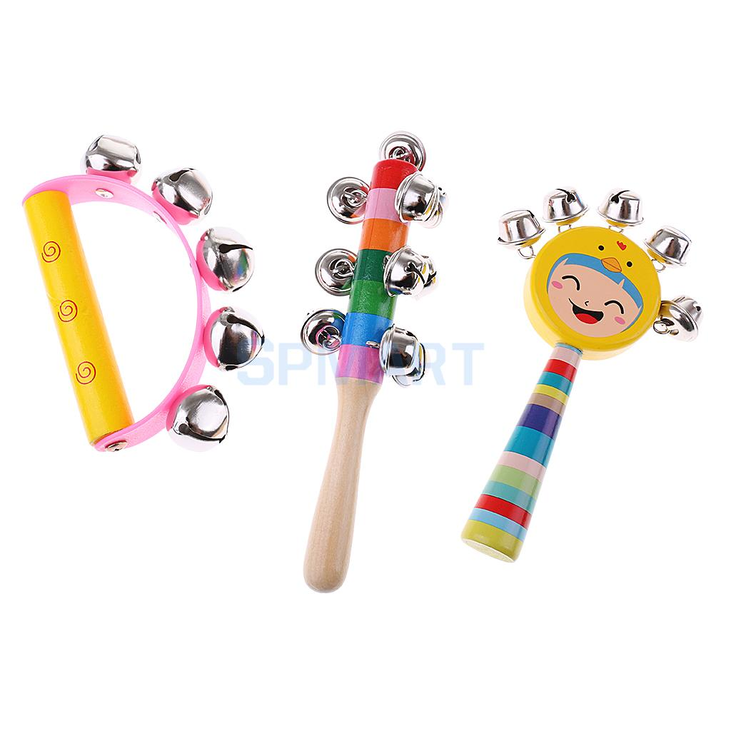 Orff World Wooden Educational Teaching Materials Percussion Drums Bell Musical Instrument Set Kids Intelligent Development Toy