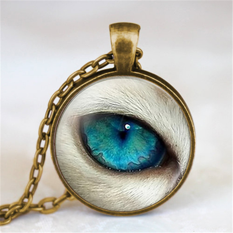 Dragon Eyes Necklace For Women And Boys Fashion Jewelry Glass Dome Pendant Necklace Bridesmaid Gifts Best Friends Jewelry