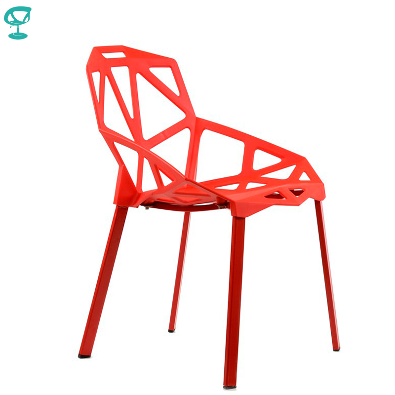 95198 Barneo N-229 Plastic Metal Kitchen Breakfast Interior Stool Bar Chair Kitchen Furniture Red Free Shipping In Russia