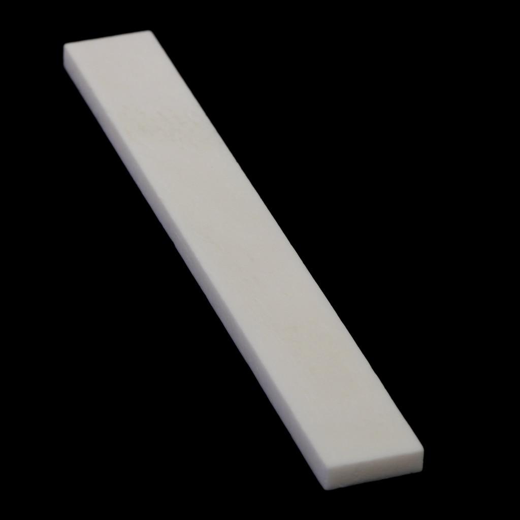 5pcs 80mm Ivory Cattle Bone Guitar Bone Saddle Uncut Blank for Handmade Guitar Replacement Bone