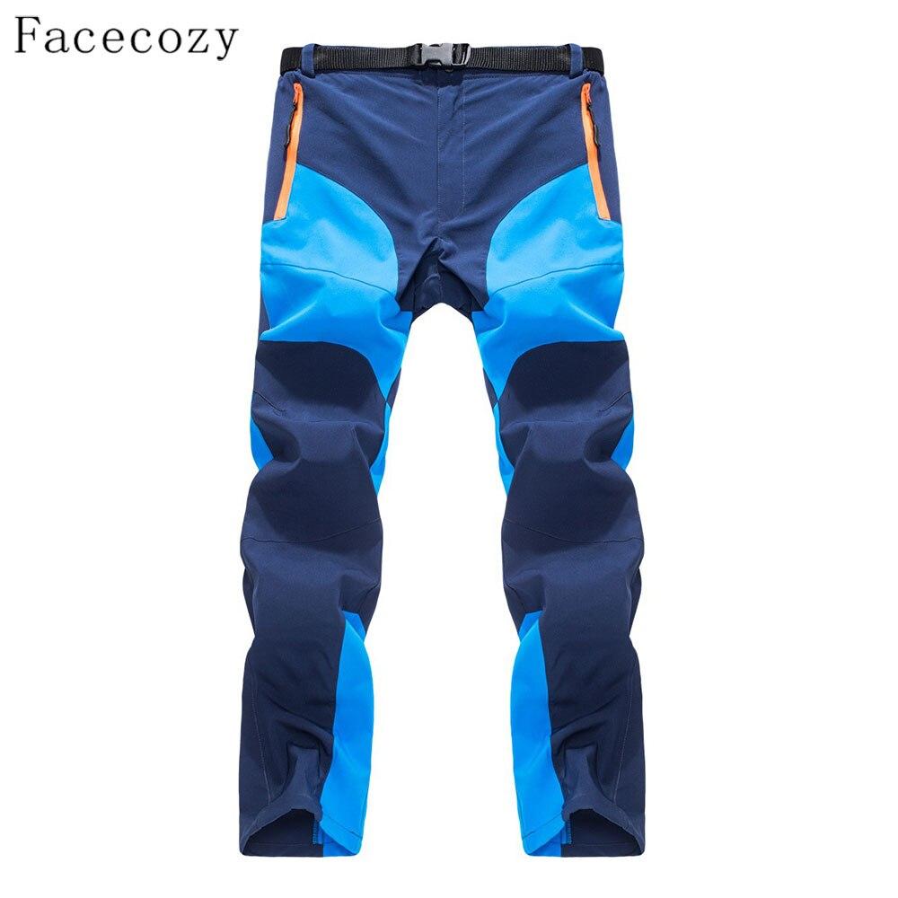Мужские быстросохнущие брюки Facecozy, тонкие дышащие брюки комбинированного цвета для походов и кемпинга на лето