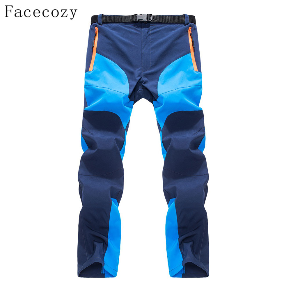 Facecozy Men Thin Summer Outdoor Quick Dry Pants Wearable Splice Color Thin Breathable Trousers Men Hiking&Camping Sports Pants jacksanqi summer quick dry women pants spring female outdoor sports thin breathable pants hiking trekking camping trousers ra011