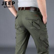 Multi-tasche Allentato Mid-vita Pantaloni