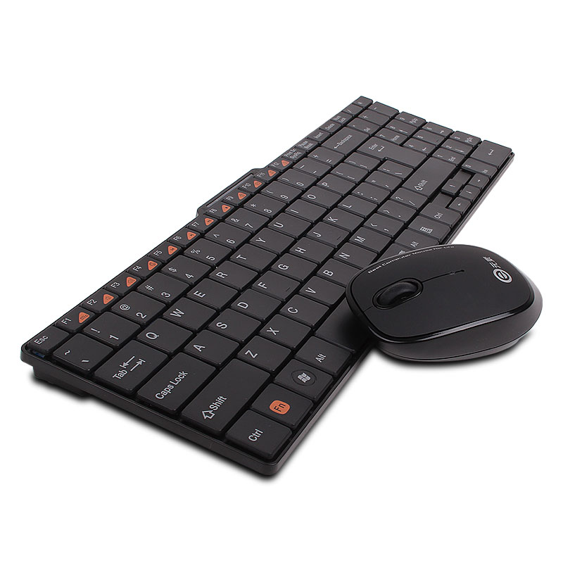 2.4GHz Super Slim Wireless keyboard and mouse set Chocolate Keys Multimedia Combo Set Small Mouse for Computer Desktop PC E300