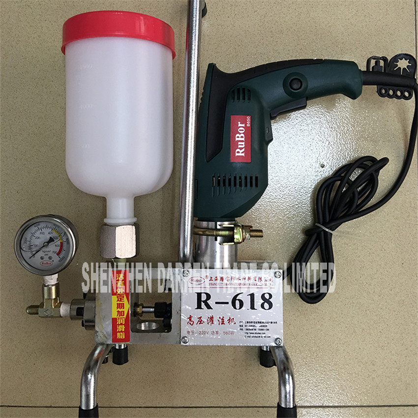 R 618 220v Electric Grouting Machine Epoxy Injection Pump