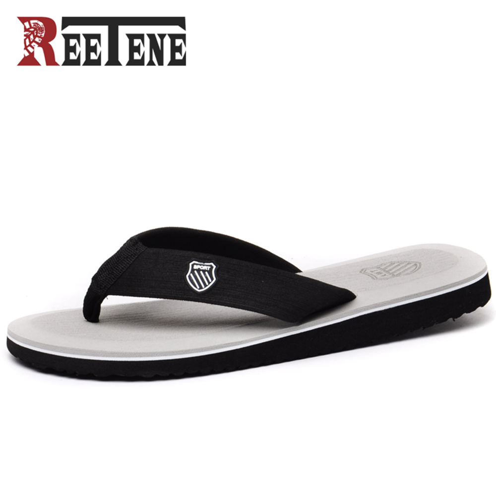 REETENE Fashion Men'S Flip-Flop 2018 New Arrive Outdoor Men Flip Flops High Quality Beach Sandals For Men Slippers Plus Size