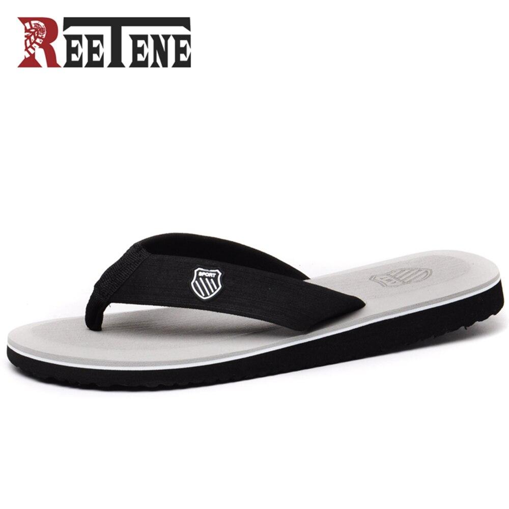 REETENE Fashion Men'S Flip-Flop 2018 New Arrive Outdoor Men Flip Flops High Quality Beach Sandals For Men Slippers Plus Size