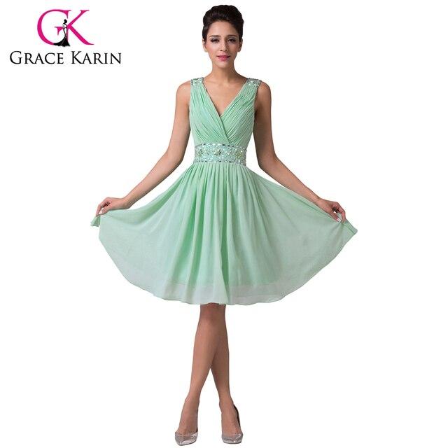 Gnade Karin Charming Mint Green Brautjungfernkleider Knielangen ...