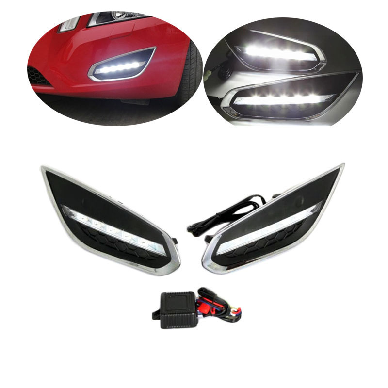 2шт LED DRL для Вольво S60 с 60 2013 дневного света Водонепроницаемый Противотуманные фары автомобиля-стайлинг Бесплатная доставка