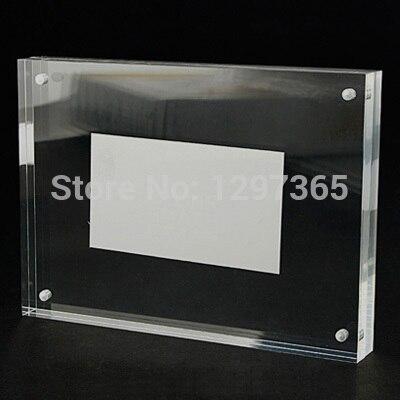 akrylový krystal silný magnetický cenovka / stolní karta / značka stanice / / velikost fotorámečku 203 * 152mm