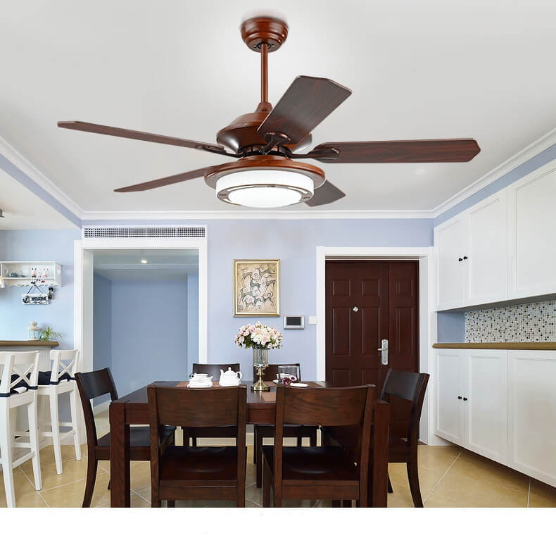 New chinese ceiling chandelier fan minimalist home bedroom - Bedroom ceiling fans with remote control ...