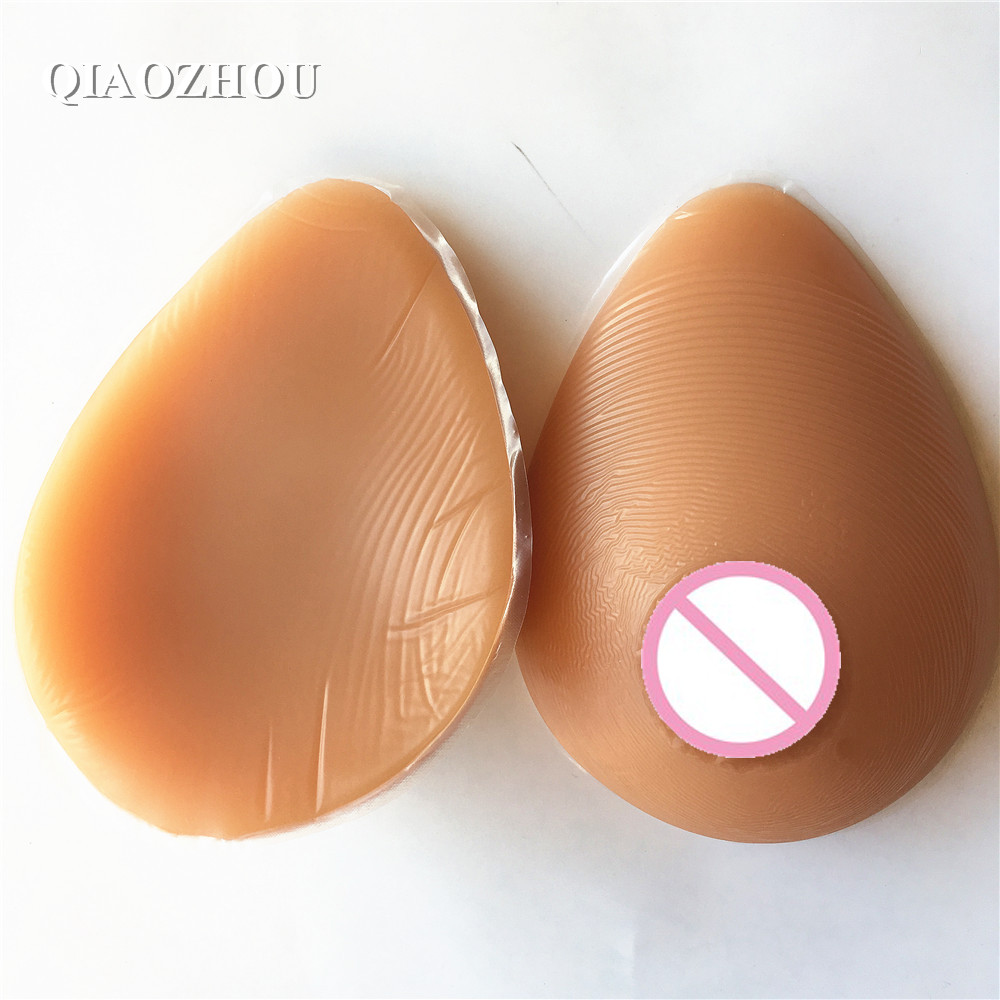 B cup 600g fake boobs crossdressing realistic silicon breast form for man cosplay