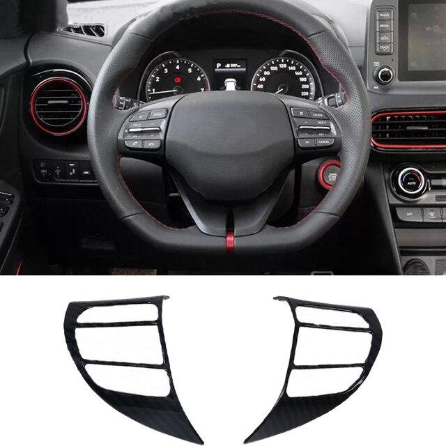 Tomefon For Hyundai Kona Encino 2018 2019 Abs Chrome Front: For Hyundai Kona Kauai Encino 2018 2019 Car Steering Wheel