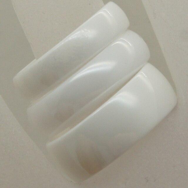 5mm width  classic dome white hi-tech scratch proof ceramic ring 1pc