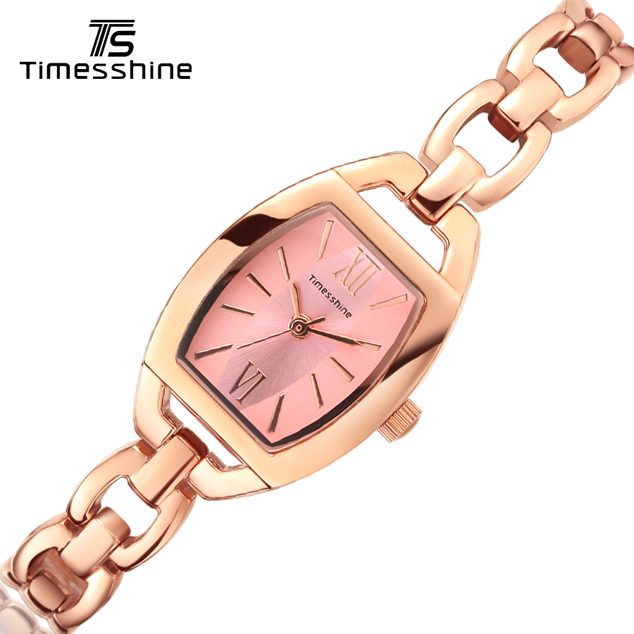 Timesshine Women Watch Gold Fashion Rose gold bracelet Watches Ladies Women Wrist Watches montres femmes Stainless Steel Quartz timesshine women watch quartz watch