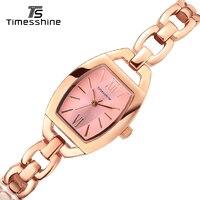 Timesshine Women Watch Gold Fashion Rose Gold Bracelet Watches Ladies Women Wrist Watches Montres Femmes Stainless
