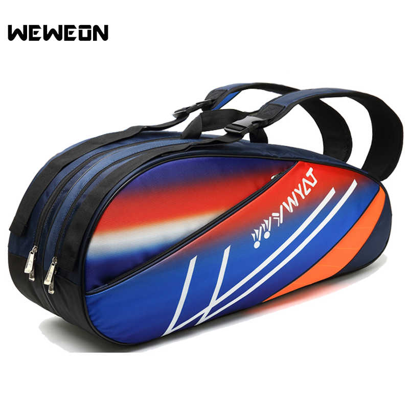 Colorful Large Tennis Bag 6-8Pcs Tennis Sports Backpack Athlete Badminton Racket Shoulder Bag for Shoes Shoulder Racquet Tote