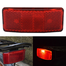 1Pcs Bike Reflector Bicycle Mount Cycling Safety Red Warning Reflect Light For Disc Rear Carrier Pannier Rack