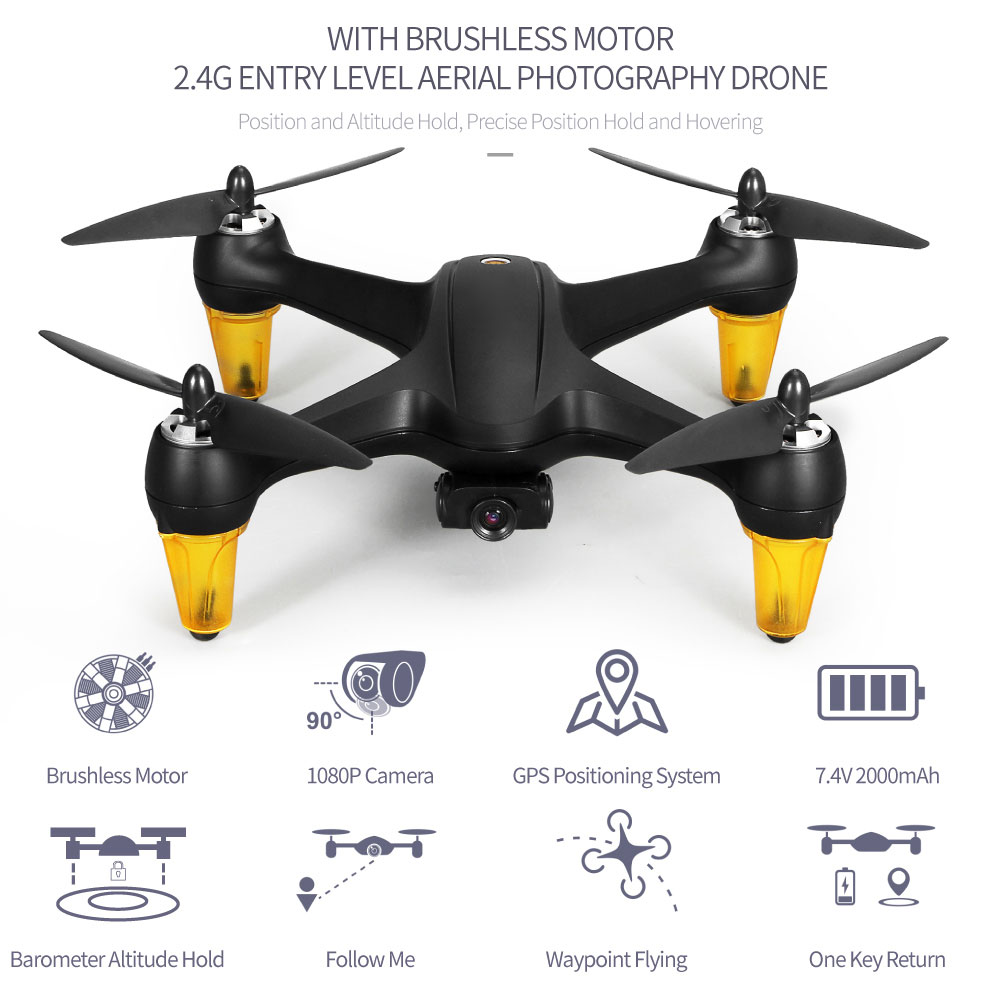JJRC X3P GPS RC Drone 5G WiFi FPV with 2MP 1080P HD Wide Angle Camera Brushless Motor Follow Me Quadcopter High Quality