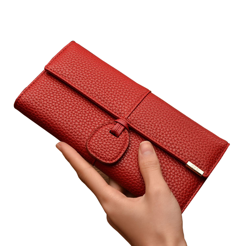 Brand Women Litchi Pattern Wallets Coin Purse Card Holder Woman Fashion Wallet Leather Female Long Hasp Purse Feminina Carteira high quality floral wallet women long design lady hasp clutch wallet genuine leather female card holder wallets coin purse