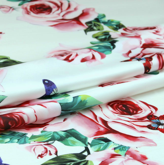 145cm rose print fabric drape fashion dress scarf fabric polyester material diyparent child fabric wholesale cloth in Fabric from Home Garden