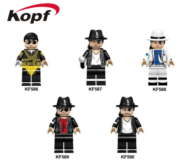 KF6047 Single Sale Assemble Famous Singer Model Christmas Gift Figures Learning Building Blocks Bricks For Children Toys