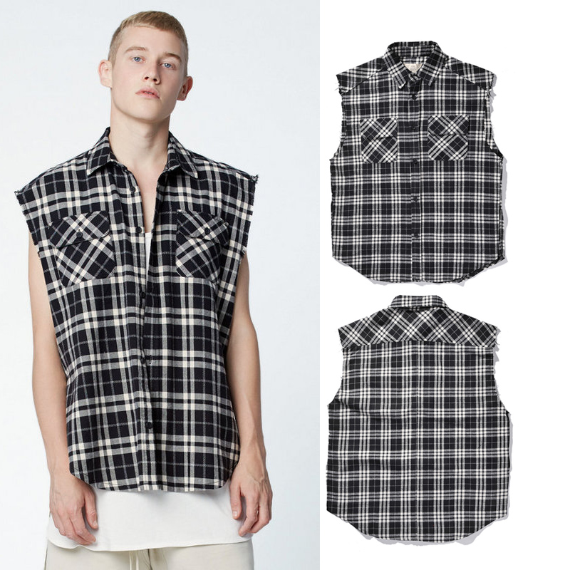 Compare Prices on Sleeveless Plaid Shirt Men- Online Shopping/Buy ...
