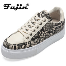 Fujin Women Flat Shoes 2019 Summer Light Color Serpentine Board Wind Matching Fashion