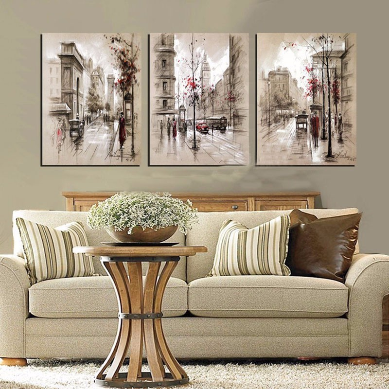 DPF Diy square diamond embroidery triptych european style home decor whole diamond mosaic needlework diamond painting