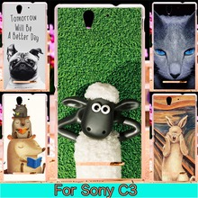 Soft TPU Plastic Cover For Sony C3 Case For Sony Xperia c3 dual s55u d2533 d2502 S55T 5.5 inch Case Phone Covers Shell Housings
