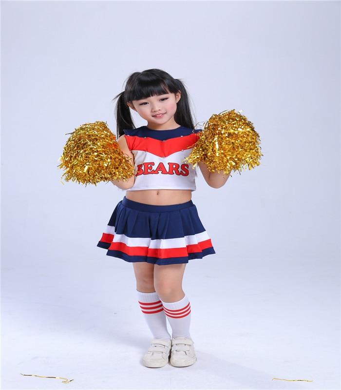 High School Girls Cheerleading Glee Children Cheerleader Costume Aerobics Kids Performance Clothing Boys Uniforms 110-170cm