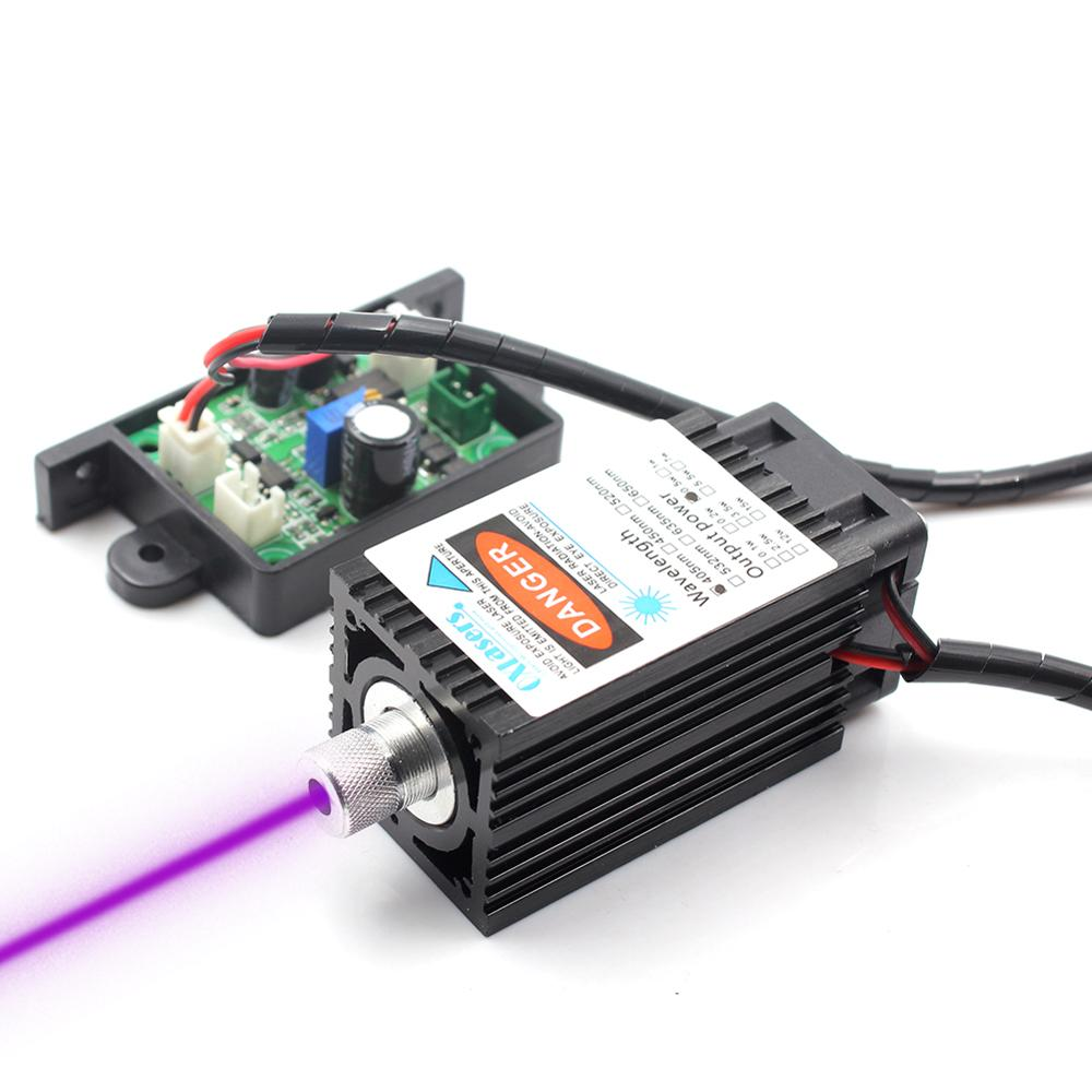 Oxlasers 405nm 500mW Blue Violet Laser Module For 3D Printer 12V Focusable DIY UV Laser Head For Engraving And Cut With TTL PWM