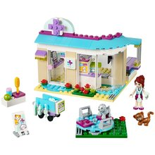 BELA Friends Series Vet Clinic Building Blocks Classic For Girl Kids Model Toys Marvel Compatible Legoe