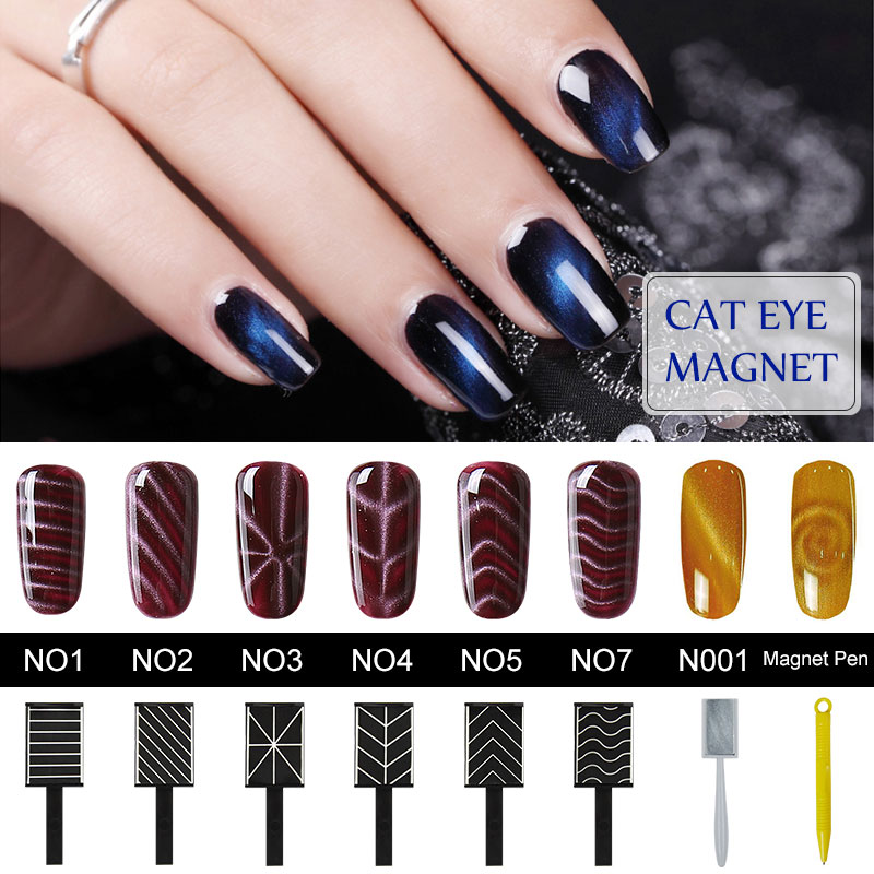 Belen Nail Art Sticker Cat Eye Gel Polish Magnet Stickers Manicure UV Nail Gel Polish Nail Magnet For Nails For Decoration 12boxes set 1g perfect cat eye effect magic mirror powder uv gel polish nail art magnet glitter pigment diy nail decoration
