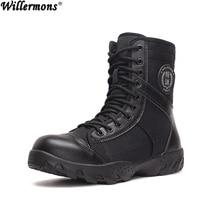 Été En Plein Air Hommes de Respirant High Top Militaires Tactiques Bottes Hommes De Mode Combat de L'armée Bottes Chaussures Botas Hombre