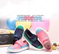 2015 весна осень пункт детская обувь холст обувь корейских мужчин и женщин большой мальчик спортивная обувь