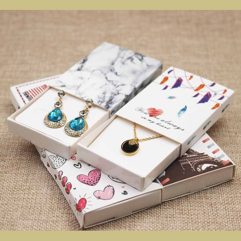 Dreamcatcher Printed Gift Box Diy Handmade Love Wedding  Favor Box UK/USA Country Signal Gift Package Box 12pcs +12pc Inner Card