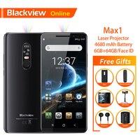 Blackview Max 1 6,01 смартфон новый лазерный проектор 6 ГБ + 64 Android 8,1 портативный дома театральный фильм ТВ проектор для мобильного телефона