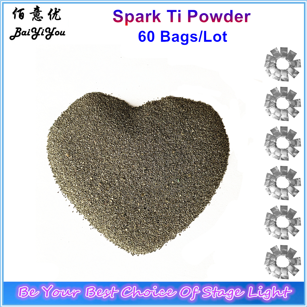 60 Bags Lot Sparkular Machine Ti Powder 200g Fountain Fireworks TItanium MSDS Powder Materials For Stage
