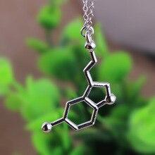 12pcs/lot fashion necklaces for women and men,Dopamine molecule chemical pendant necklace,personalized Science students necklace