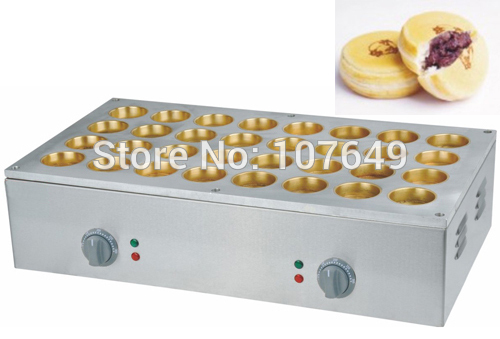 32pcs 6.8x2.3cm 220v Electric Obanyaki Dorayaki Azuki Bean Waffle Maker Baker Machine Iron