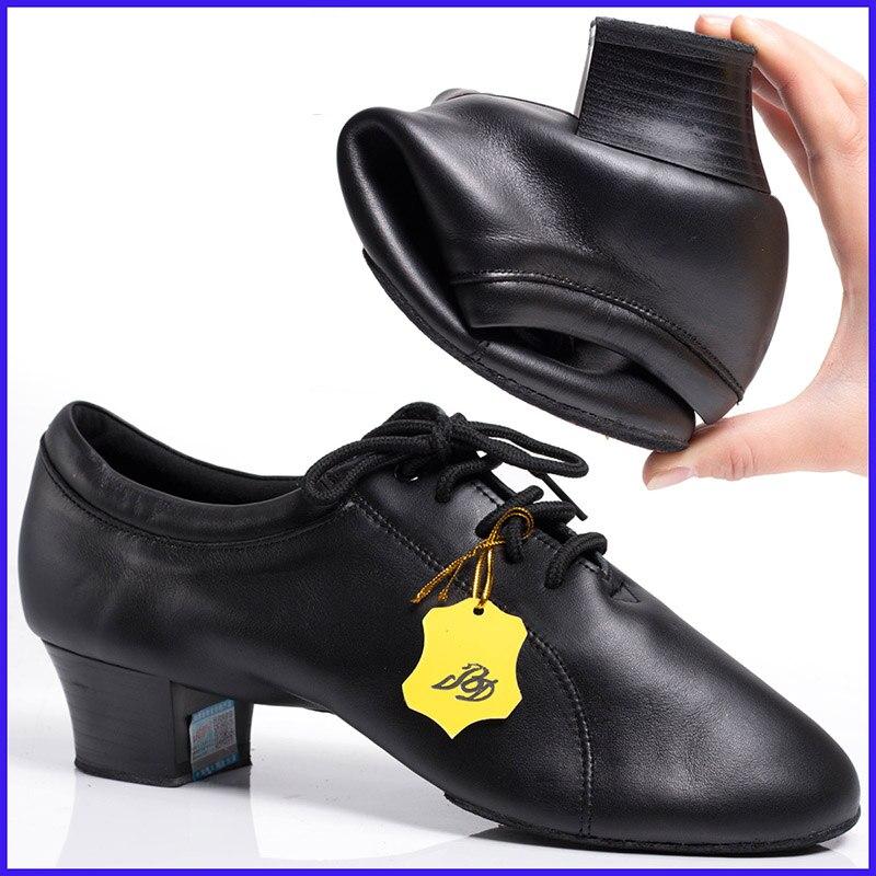 Jeu de sport dédié chaussures de danse latine hommes chaussure cadeau de noël BD 419 véritable cuir école de danse pour résistant à l'usure antidérapant